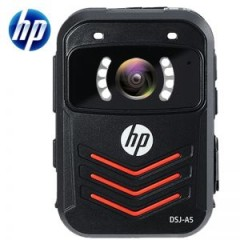 惠普 执法记录仪 DSJ-A5 标配64GB内存 2英寸全高清LCD显示屏 F2.1光圈 电池容量2700mhA 高清红外夜视 1296P 3000万像素 黑色