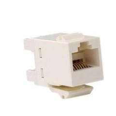 安普(AMP)原装超五类非屏蔽模块 象牙白 8-1375191-1